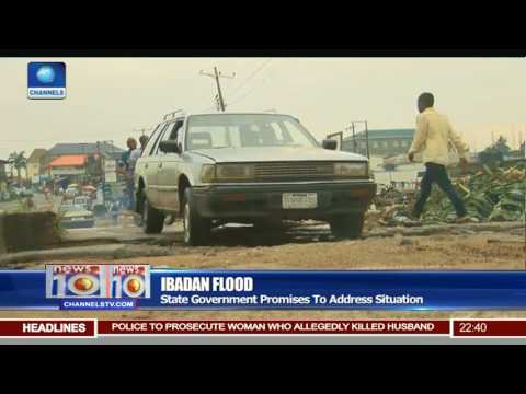 News@10: Ibadan Residents In Oluyole LGA Cry Out Over Inundation 23/07/17 Pt 3