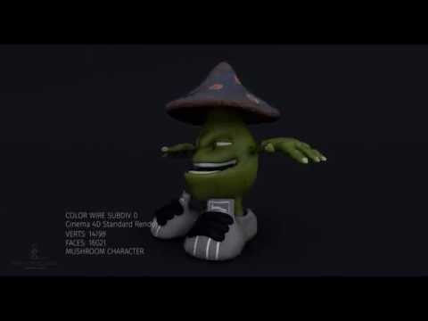 Cartoon Mushroom Character 3D Model 3D model