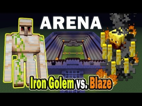 Minecraft Arena Battle Iron Golem vs. Blaze