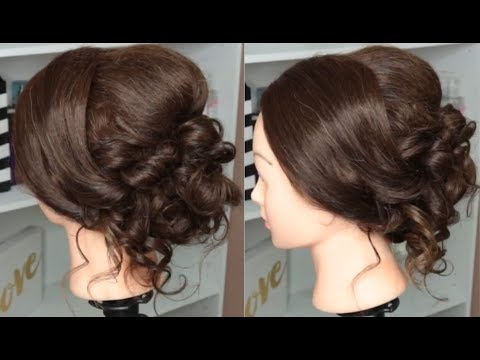 Bridal Wedding Prom Updo ♡ Hairstyle For Medium Long Hair