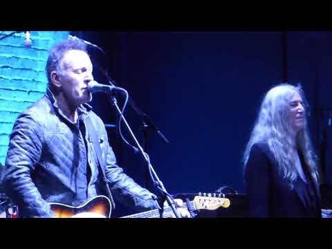 """""""Because The Night"""" by Patti Smith and Bruce Springsteen at Tribeca Film Festival 2018"""