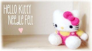 DIY Hello Kitty Needle Felt Plush / Plushie - YouTube