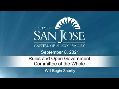 SEP 8 2021 Rules & Open Government