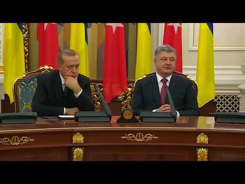 Recep Tayyip Erdogan schlft in Pressekonferenz mit Petro Poroschenko ein   WELT