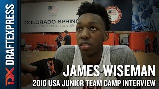 James Wiseman Interview at USA Basketball Junior National Team Camp