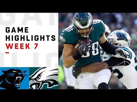 Panthers vs. Eagles Week 7 Highlights | NFL 2018_Sport videók