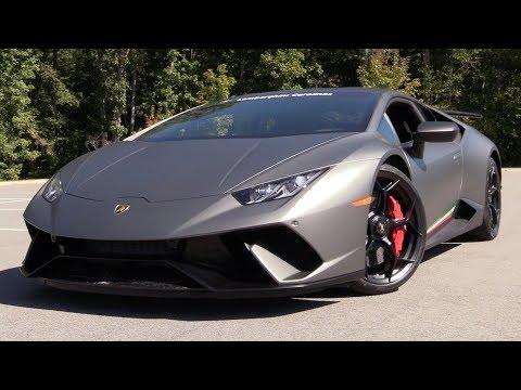 2018 Lamborghini Huracan Performante Review: An Aero Focused Track Weapon! (видео)