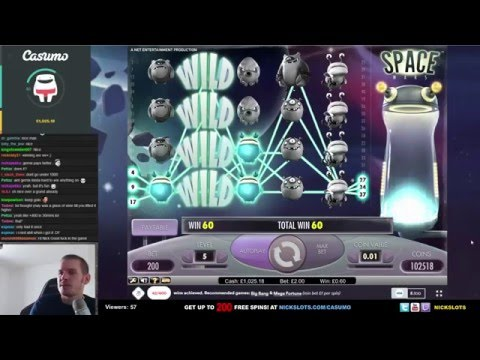 SUPER MEGA WIN on Space Wars Slot - £2 Bet