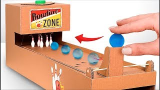 Video How to Make Interactive Bowling Game From Cardboard! MP3, 3GP, MP4, WEBM, AVI, FLV Januari 2019
