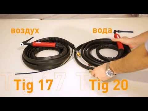 TIG горелки для аппаратов с газовым клапаном