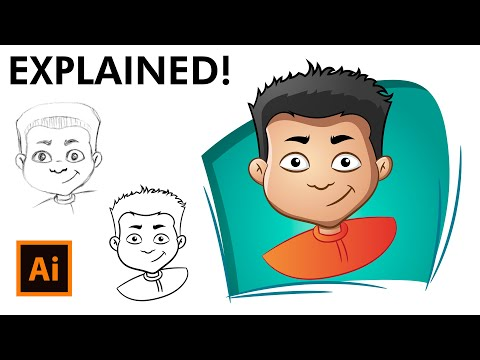 How to Draw a Cartoon Face - Adobe Illustrator Drawing Tutorial
