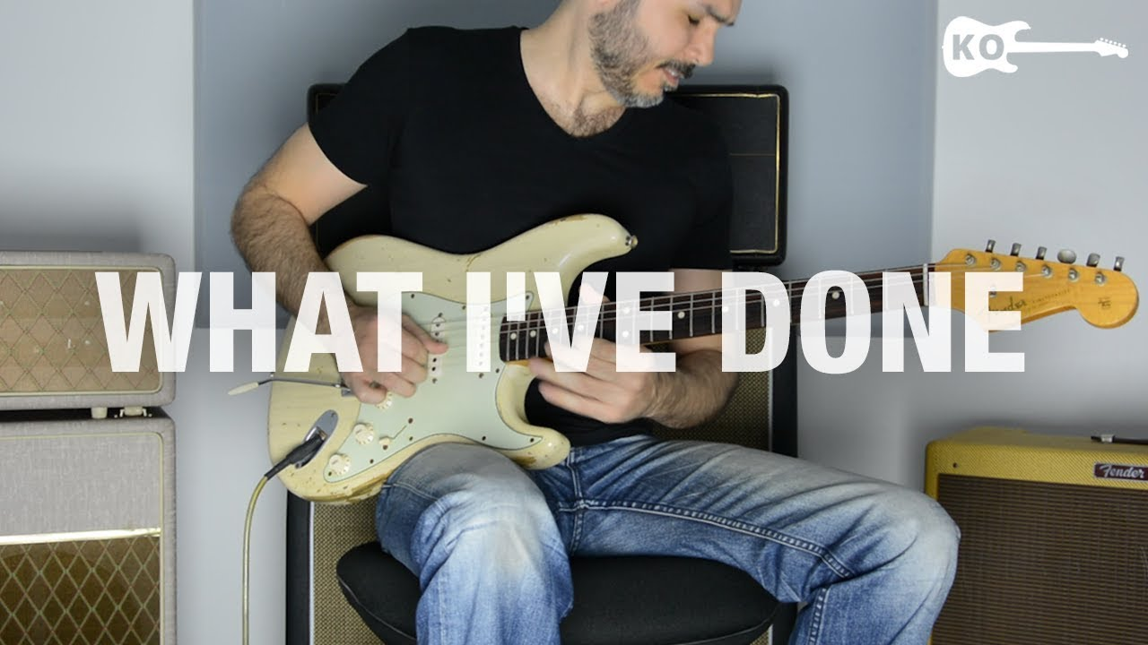 Linkin Park – What I've Done – Electric Guitar Cover by Kfir Ochaion