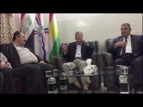 الدكتور خالد العبيدي يلتقي مجلس أعيان قرقوش في قضاء الحمدانية بمحافظة نينوى