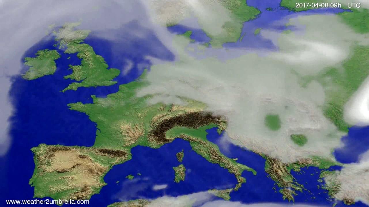 Cloud forecast Europe 2017-04-04