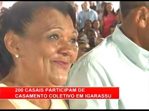 [RONDA GERAL] Casais participam de casamento coletivo em Igarassu