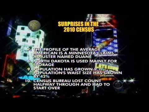 Letterman Top 10 List: Surprises In the 2010 Census