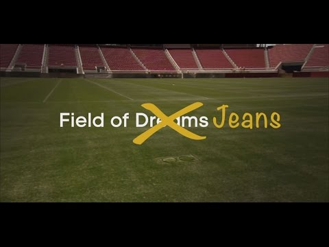 Video: Field of Jeans: Is this heaven? No, it's the Super Bowl