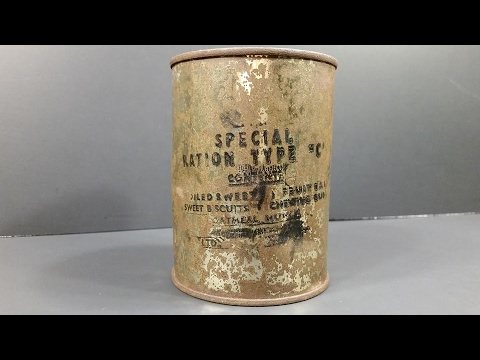 Eating 70 Year Old Canned Military Meal From WWII