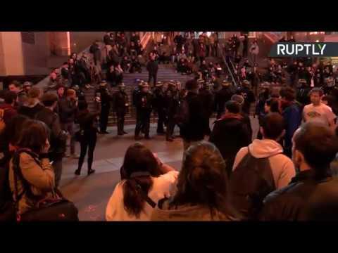 Video - Πεδίο μάχης το Παρίσι μετά τις εκλογές - Διαδηλώσεις κατά Λεπέν και Μακρόν