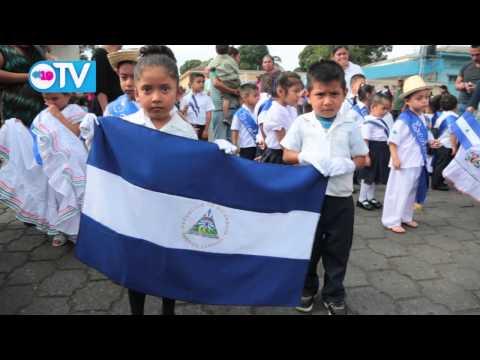 Niños de los CDI protagonizan desfile patrio en Masatepe