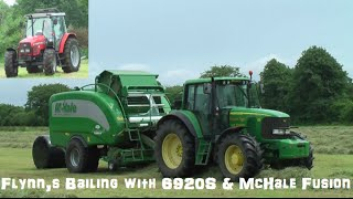 Flynn's Bailing Silage with a John Deere 6920s with a McHale Fusion 3 Plus  in Kilmeaney  Co Kerry 2016.Hope you in Enjoy Please Subscribe or Like also Follow on Twitter @agri_jmLike on Facebook JM Agri Videos.