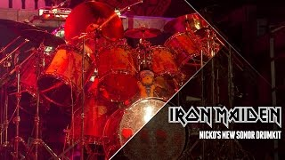 Nicko McBrain gives us a quick look at his new Sonor drumkit. See Iron Maiden on The Book Of Souls World Tour: ...