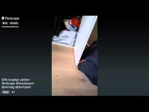 Burglar Live Streams Burglary on Periscope