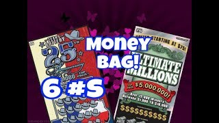 Scratching $50 ULTIMATE MILLIONS AND $5 25TH ANNIVERSARY Texas Lottery Scratch Off Tickets. Will I find a big win? Stay tuned. Join me on Facebook: https://www.facebook.com/TexanCandy/    Fan Mail:Candy PO Box 241763San Antonio, TX 78224