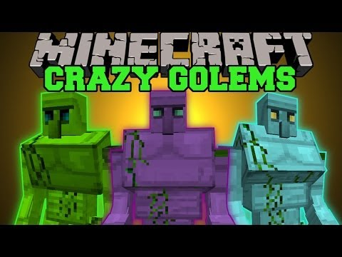 Minecraft: CRAZY GOLEMS (HUGE GOLEMS, TONS OF WEAPONS AND ARMOR) Crazy Ores Mod Showcase