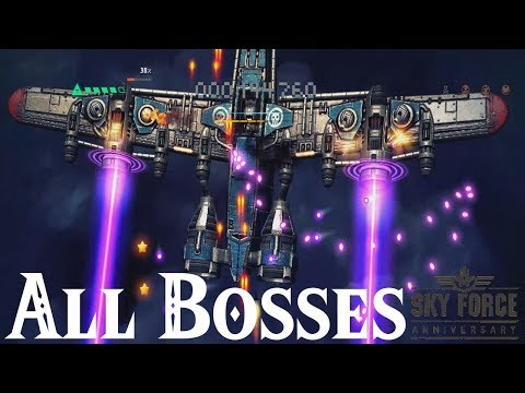 Sky Force Anniversary // All Bosses