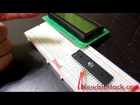 Avr atmega32 intro to lcd meet mr lcd and check out his crib