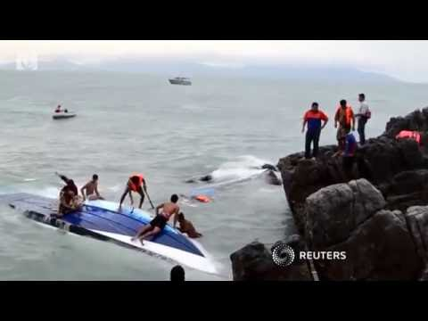 A speedboat capsizes off the coast of a Thai island, killing two people, including a British cities.