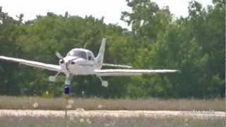 Cirrus SR-22 Landing At Harbor Springs Airport [N379CD] HD *1080p*
