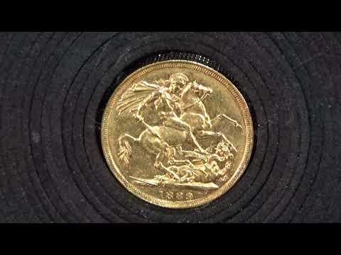 1889年發行英國維多利亞女王金幣