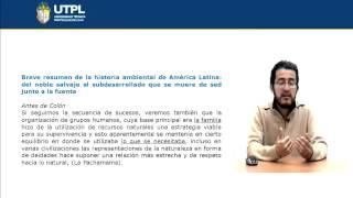 UTPL BREVE RESUMEN DE DE LA HISTORIA AMBIENTAL DE AMÉRICA LATINA [(GESTIÓN AMBIENTAL)]