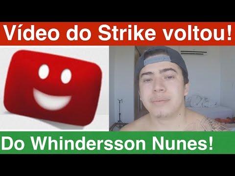 Recuperei o vídeo do Strike do Whindersson Nunes! Como recuperar o seu vídeo que levou Strike.
