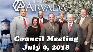 Preview image of City Council Meeting July 9, 2018