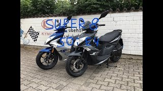9. Kymco Super 8 50i E4 2018 - Black and Silver, Walkarounds, Details