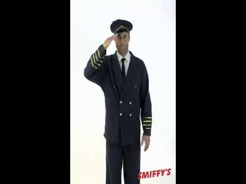 Déguisement uniforme de commandant de bord