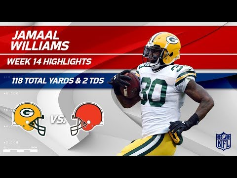 Video: Jamaal Williams' 118 Total Yards & 2 TDs! | Packers vs. Browns | Wk 14 Player Highlights