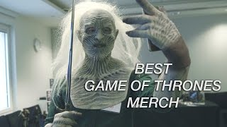 We show you some of the best Game of Thrones merchandise including replicas and collectables.