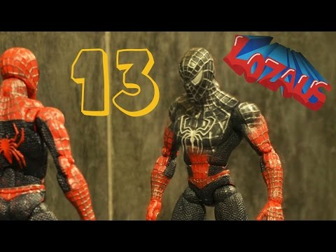SPIDERMAN STOP MOTION Action Video Part 13 with BATMAN (видео)