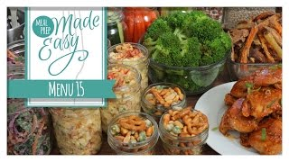 *NEW* Healthy Meal Prep Menu 15 | Baked Beans, Buffalo Chicken, Crunchy Kale Slaw by The Domestic Geek