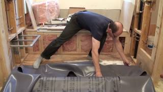 How to install a Shower Pan Liner and HardieBacker Board. Душевой поддон