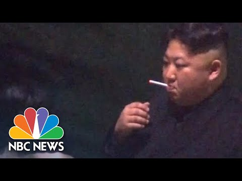 North Korea's Kim Jong Un Stops For A Smoke Break On Way To Hanoi Summit | NBC News