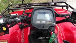 7. Honda Fourtrax Es  350 4x4 test drive