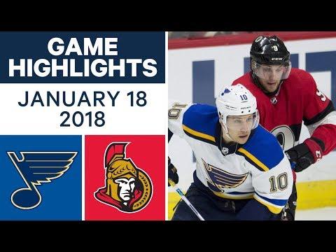 Video: NHL game in 4 minutes: Blues vs. Senators