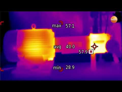 Техническое обслуживание механического оборудования с тепловизорами Testo