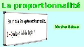 Maths 5ème - La proportionnalité Echelle Exercice 4