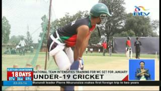 The national Under-19 cricket team is back in training at the Sir Ali Muslim Club as they prepare for the ICC Under-19 World Cup...
